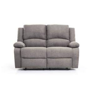 Canapé de relaxation manuel 2 places en microfibre