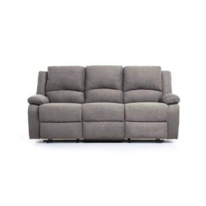 Canapé de relaxation manuel 3 places en microfibre