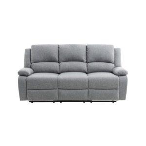 Canapé de relaxation manuel 3 places en tissu