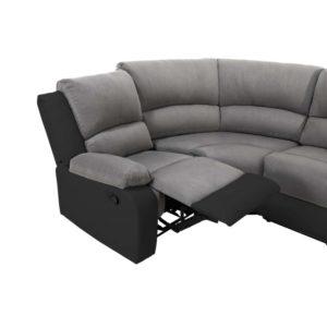 Canapé panoramique de relaxation 8 places en microfibre et simili