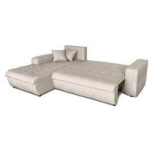 Canapé d'angle convertible 4 places en tissu