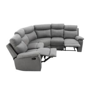 Canapé de relaxation panoramique 6 places en microfibre