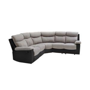 Canapé de relaxation panoramique 6 places en microfibre et simili