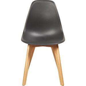 Chaise scandinave en coque noire