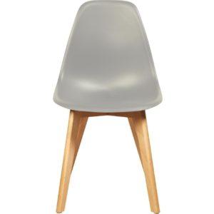 Chaise scandinave en coque grise