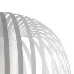 Suspension globe blanche
