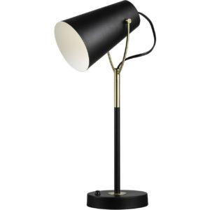 Lampe de chevet design noire