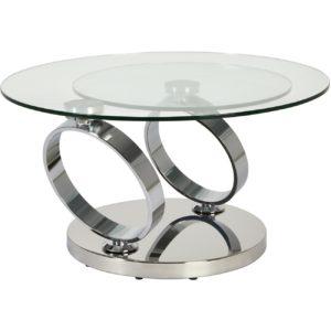 Table basse chic en verre
