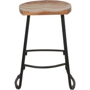 Tabouret de bar en bois d'acacia