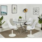 Chaise blanche avec coque rembourrée