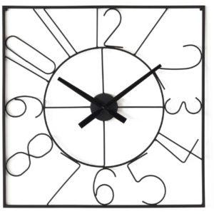 Horloge carrée en métal