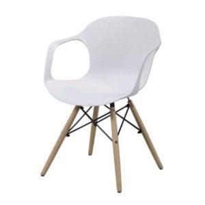 Chaise en plastique avec accoudoirs