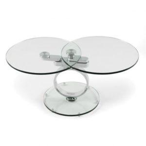 Table Basse en verre transparent