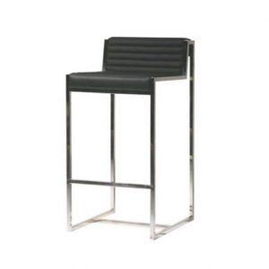 Chaise haute classique en simili cuir
