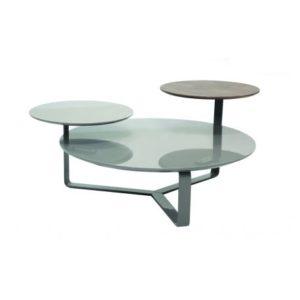 Table basse élégante avec plaquage