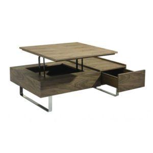 Table basse relevable à tiroir