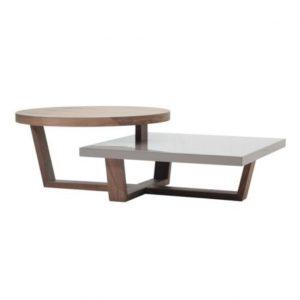 Table basse design à deux plateaux