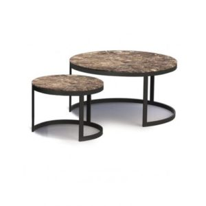 Duo de tables basses en marbre