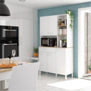 Buffet de cuisine 5 portes et 1 tiroir L108 x H186 cm