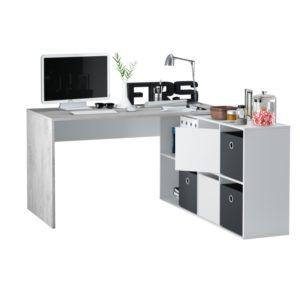 Bureau avec caissons multipositions L136 ou L203 cm
