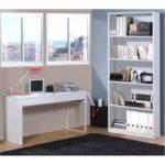 Bureau design piètement reversible 2 tiroirs L138 cm